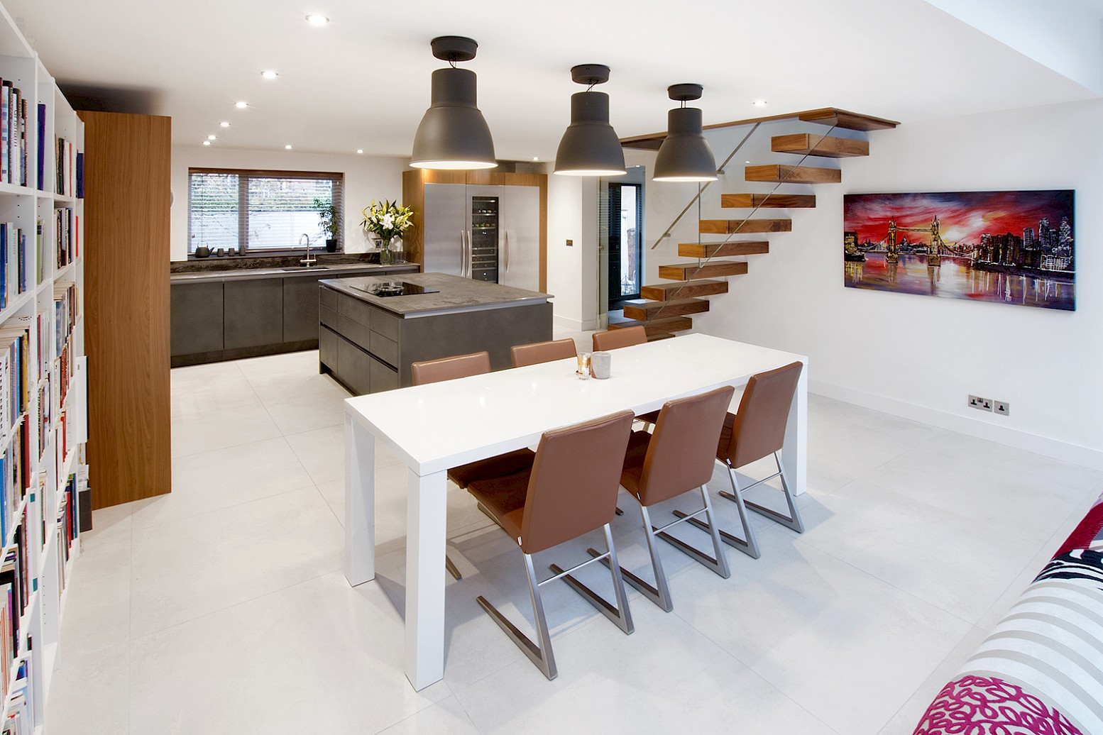 open plan kitchen rebuild and revise layout in trilium and